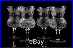 Edinburgh Crystal Thistle Iced Tea Glasses, Set of (4), Anniversary Edition