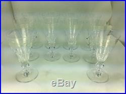 Elegant Set of Ten (10) William Yeoward Bunny Crystal Water/Wine Goblets