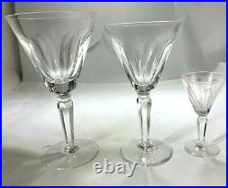 Elegant Waterford Sheila Crystal Set for Eight (24) Water Goblets, Wine & Cordial