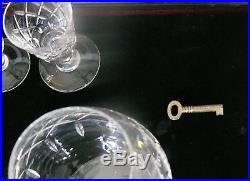 English Crystal Tudor Ludlow Pattern Decanter Set In Wooden Case
