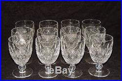 Estate Set Of 12 Signed Waterford Crystal Colleen Wine Water Glasses 5.25 T #13