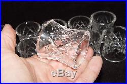 Estate Set Of 12 Signed Waterford Crystal Lismore Napkin Rings Ring # 12