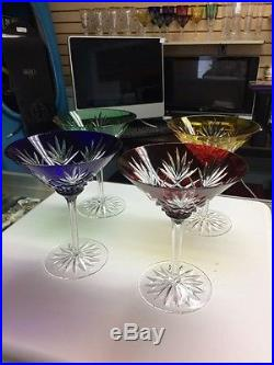 Faberge Odessa Martini Glasses Set Of 4 2003 Neiman Marcus