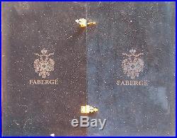 FABERGE Odessa Set of 6 Wine Goblets in Original Storage Box in Amber