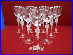 FABERGE crystal PAVLOVA pattern Set of 10 WINE GOBLETS Glasses