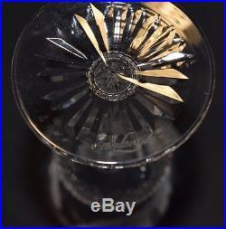 Fine Vintage Edinburgh Thistle Flower Potter Cut Crystal Cordial Set