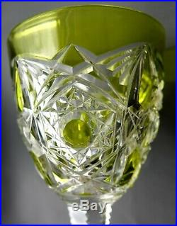 French Baccarat LAGNY Deep Cut Crystal Stemware Glassware FOR 12 Set 118 Pieces