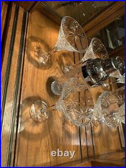 Godinger Palm South Beach Crystal Martini Set 4 Glasses and shaker
