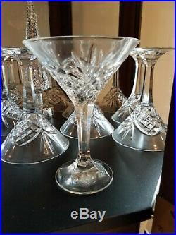 Godinger Shannon Dublin 24% Lead Crystal Martini Glasses, set of 12, orig box