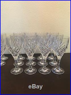 Gotham Lady Anne Crystal Set 12 Wine Glasses 11 Goblets