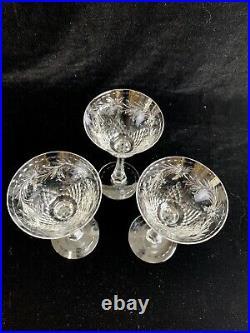 Hawkes Talisman Set Of 3 Liquor Cocktail Glasses