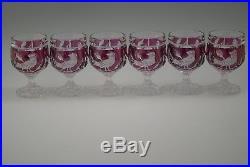 Hofbauer Germany Byrdes Ruby Set Of 6 Cognac Goblets 4