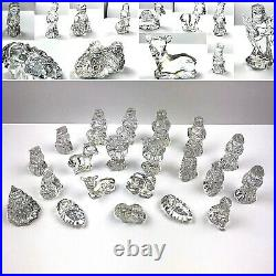 Huge Lot of 21 Waterford Crystal Marquis Nativity and Christmas Set Figures