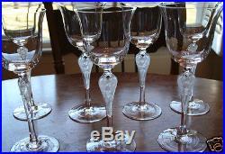 Igor Carl Faberge Anna Pavlova Crystal Wine Glasses Set of 11 Ballerina 1980