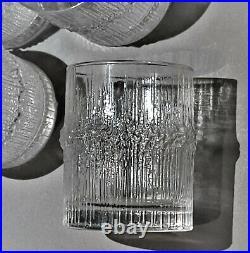 Iittala Set 6 Niva Sherry Glasses Tapio Wirkkala MCM Finland Finnish Glassware