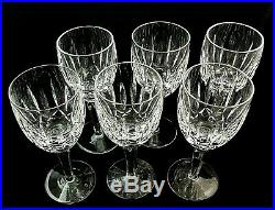 KILDARE by Waterford Crystal CLARET Wine GLASSES 6 1/2 Tall Set of 6