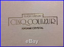 Kagami Flash Crystal Rock Glass Set Edo Kiriko Traditional Craftmanship RARE