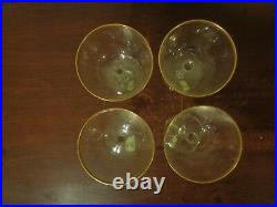 Lenox Crystal Tuxedo Champagne Coupe Glasses Set Of 4 Gold Trim WithLabel