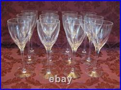 Lenox Firelight Crystal Water Goblets Set of Twelve (12) Excellent