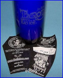 Living Dead & Tarot Witch Crystal Etching Glassware Set oF 4 Glasses COA Signed