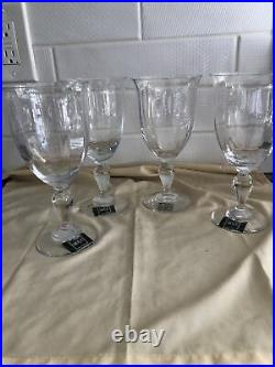MIKASA English Countryside Water Goblet(s). Set of 4 MINT Condition New
