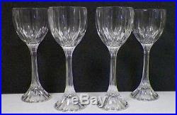 Mikasa Park Lane Crystal Wine Hocks Set Of Four (4) 8 1/4 Tall Euc