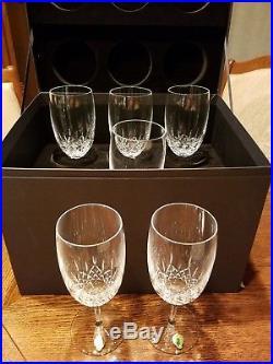 MSRP $395 Waterford Lismore Essence Glass Iced Beverage Glasses set of 6 -NIB