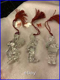 Marquis Waterford Crystal 4th In Series Ornaments 12 Days Of Christmas Set Of 3