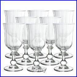 Mikasa Christmas French Countryside Crystal Goblets, Set of 8