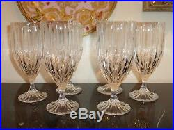 Mikasa Crystal Park Lane Iced Tea Glasses Set of 6