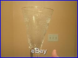 Moser Crystal Glassware Maharani Champagne Flute Full 8 Piece Set