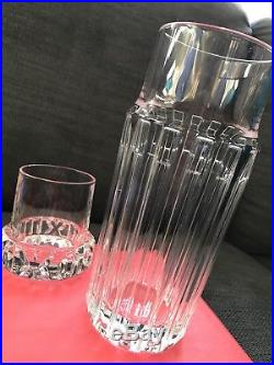 Mothers Day Special! TIFFANY & Co. Crystal Water Decanter And Tumbler Set