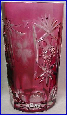 NACHTMANN crystal TRAUBE pattern HIGHBALL GLASS 5-1/8 set of EIGHT colors