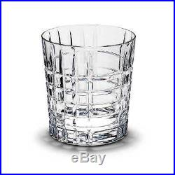 NEW! Tiffany & Co Double Old-fashioned Glass 10 Oz Plaid MADE IN ITALY Set of 10