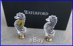 NEW Waterford Crystal 3 Seahorse Lamp Finials Set of 2 NIB
