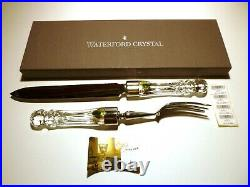NEW Waterford Crystal LISMORE (1957-) 2 Piece Carving Set Knife & Fork Box