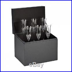 NEW Waterford Crystal LISMORE ESSENCE Set of 6 Champagne Flute Glasses #156454