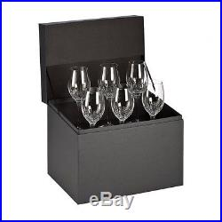 NEW Waterford Crystal LISMORE ESSENCE White Wine Set of 6 Glasses New