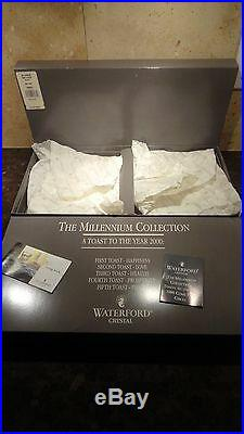 NEW Waterford Crystal MILLENNIUM (1996-2005) 5 Toasts Luncheon Plate 8 Set 2
