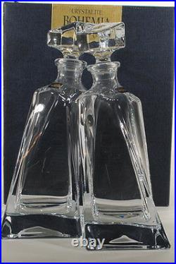 New Bohemia Crystal Lovers Decanters Carafe, Set of 2 Czech Republic Crystalite