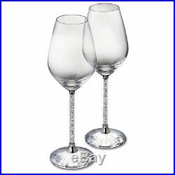 New Crystal Carafe Decanter Jug & Wine Glasses Set with Swarovski Crystals