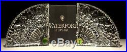New Pair Vintage Waterford Crystal Quadrant Heavy Book Ends Set Of 2 Ireland