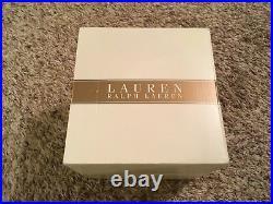 New Ralph Lauren Stamped Lead Crystal Glass Glen Plaid 4 Highball Glassware Set