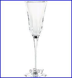 New VIETRI Italian Glassware Crystal Stemware SET of 4 OPTICAL Champagne Glasses