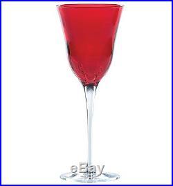 New VIETRI Italian Glassware Crystal Stemware SET of 4 OPTICAL WINE GLASSES
