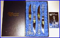 New VINTAGE Waterford Crystal LISMORE (1957-)Set 4 Steak Knifes 9 1/4 IRELAND