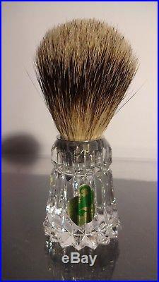 New VINTAGE Waterford Crystal LISMORE (1957-) Shaving Set Razor & Brush NIB