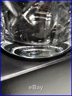 New Waterford Crystal Glenmede Tumbles Up Bedside Carafe Nite Set 7 3/8 Tall