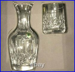 New Waterford Crystal Lismore Bedside Carafe & Tumbler Set New In Box