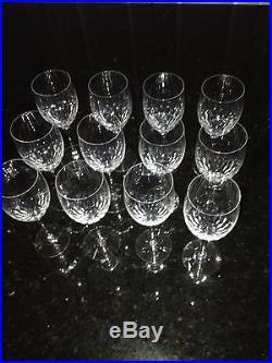 Orrefors Stemware Prelude Crystal Claret Wine Glasses Clear Set Of 12